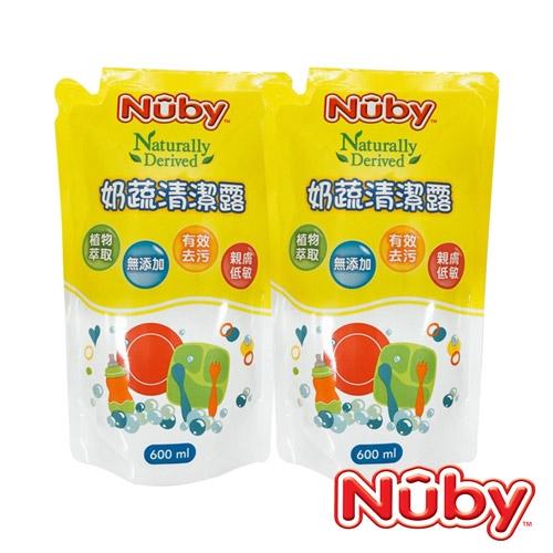 Nuby 奶蔬清潔露補充包_2包(1200ml)