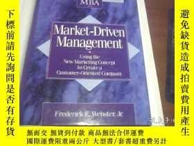 二手書博民逛書店Market-Driven罕見Management 英文原版 精