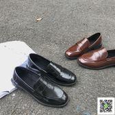 小皮鞋 ins一腳蹬小皮鞋女復古學生韓版百搭ulzzang學院風日系英倫chic潮 聖誕慶免運