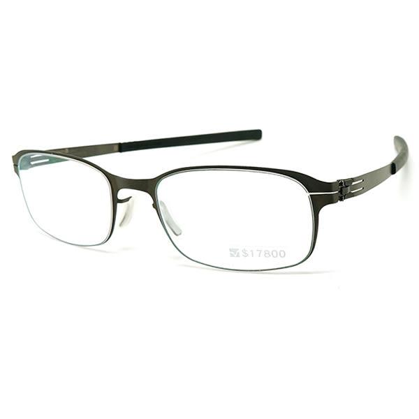 【台南 時代眼鏡 ic! berlin】德國薄鋼眼鏡 bus 133 am dachsbau graphite