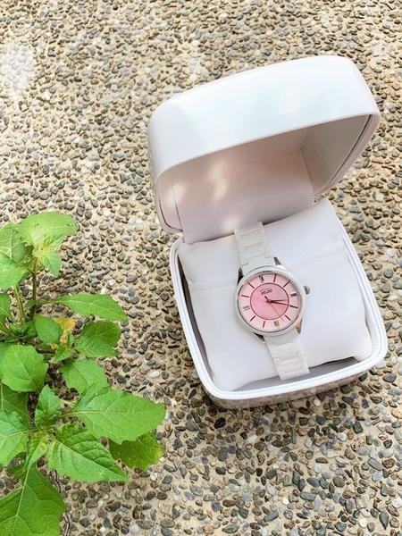 NATURALLY JOJO 陶瓷 優雅女錶 (JO96970-10F) 銀X粉/36mm