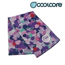 COOLCORE CHILL SPORT 涼感運動巾 花卉紫 GESTURED FLORAL (涼感運動毛巾、降溫、運動、運動巾)
