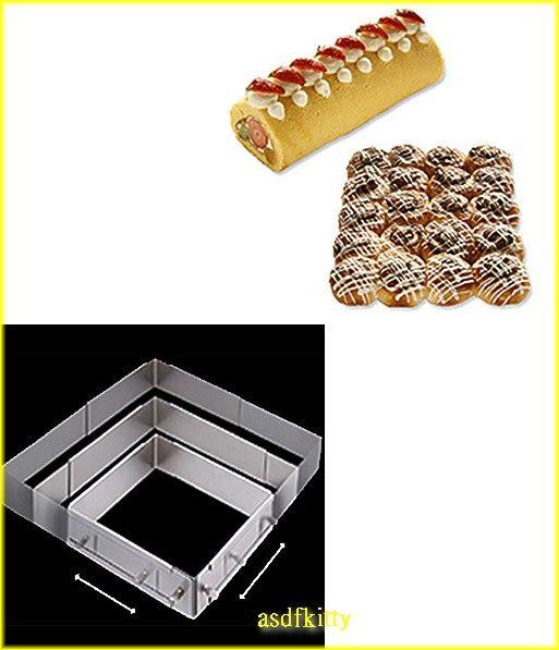 asdfkitty可愛家☆日本川嶋可伸縮18-8不鏽鋼烤模型-L號-麵包蛋糕都可做-大小可變化-日本製