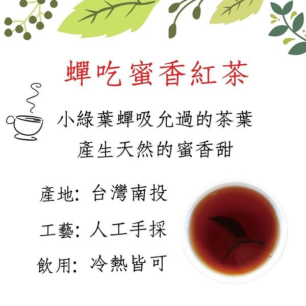 蟬吃茶蜜香紅茶包10包裝 紅茶茶包 手採茶 烘培 高山茶 南投 冷熱飲皆宜 自然農法種植 無農藥