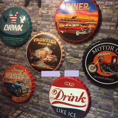 [協貿國際]   啤酒蓋裝飾品咖啡廳餐廳個性壁掛牆飾  (1入)