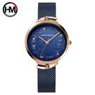 Hannah Martin 漢娜馬丁 高雅設計花朵紋樣女錶 (HM-119優雅藍)-休閒時光 優雅相隨