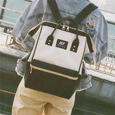 日系韓版大容量雙肩包女原宿風高中學生書包帆布旅行背包男電腦包
