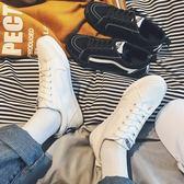 小白鞋韓版休閒鞋情侶板鞋原宿bf低筒鞋    琉璃美衣