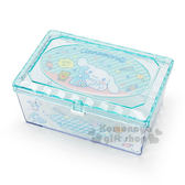 〔小禮堂〕大耳狗 菱格壓克力置物盒《綠.長方型.打電話》收納盒.飾品盒 4901610-91311