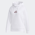 Adidas URBAN HOOD SWT 女裝 長袖 帽T 休閒 落肩 拉繩 側邊口袋 白【運動世界】GM1411