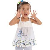 【愛的世界】彈性鳶尾花細肩帶上衣/1歲-台灣製- ★春夏上著