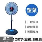 【晶工】12吋外旋循環風扇 (塑葉) LC-1234 台灣製