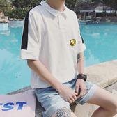 男士短袖t恤夏季韓版潮流學生百搭寬鬆港風POLO衫ulzzang半袖衣服