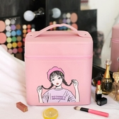 化妝包新款大容量品收納盒大號可愛旅行便攜化妝箱 週年慶降價