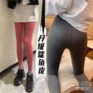 鯊魚打底褲女外穿春夏秋薄款不起球高腰收腹提臀緊身顯瘦瑜伽芭比 快速出貨