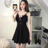 夜場洋裝低胸性感衣服小個子V領女裝吊帶裙 奈斯女裝