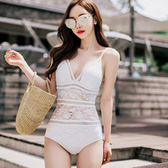 【雙12】全館大促女正韓針織新款泳衣時尚性感連體三角泳衣