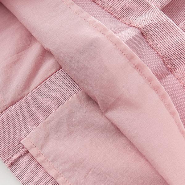 DaveBella 粉紅拼接荷葉邊無袖背心裙洋裝 DB3916