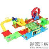 兒童小火車玩具3-8周歲男孩過山車寶寶過山洞爬梯軌道車電動玩具【萊爾富免運】