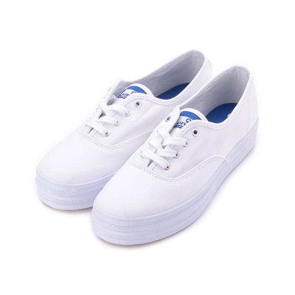 AIRWALK 綁帶厚底帆布鞋 白 A922200300 女鞋 鞋全家福