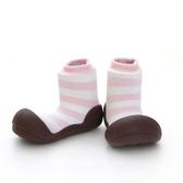 韓國 Attipas 快樂腳襪型學步鞋-花香粉紅