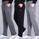 夏裝薄款中老年運動褲男鬆緊褲高腰純棉休閒褲老年人彈力中年衛褲 依凡卡時尚