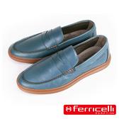【ferricelli】Outback潮流莫卡辛男仕休閒樂福鞋  藍色(F51428-BU)