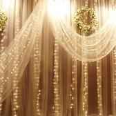 led窗簾彩燈閃燈瀑布燈星星串燈節日防水110V美規冰條新年裝飾燈ATF青木鋪子