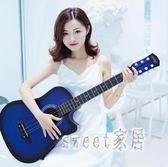 民謠吉他初學者41寸男女學生練習木吉它學生入門新手演奏樂器 JY2491【Sweet家居】