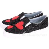 Chiara Ferragni Glitter 紅心亮片厚底休閒鞋(黑色) 1710933-01