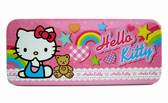 【卡漫城】Hello KItty 單層鉛筆盒粉彩虹星星㊣版馬口鐵製三麗鷗收納凱蒂貓文具鐵盒