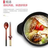 美式煲湯砂鍋燉鍋家用燃氣土陶瓷湯煲湯鍋明火耐高溫彩色蓋養生煲 卡布奇诺igo