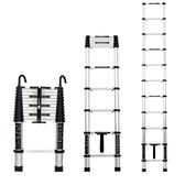 梯子鋁合金伸縮梯摺疊人字梯加厚工程閣樓梯子家用梯升降梯直梯YJT
