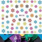 美甲貼紙  彩色雪花甲貼 3款任選  水印美DIY裝飾貼紙 想購了超級小物