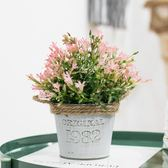 全館83折 仿真植物裝飾北歐綠植室內盆栽客廳擺件塑料假花多肉小盆景擺設