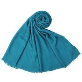 CalvinKlein CK滿版LOGO絲質寬版披肩圍巾(藍綠色)103252-9