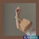 編織包 少女凹造型可愛手提草編包小眾個性度假風錬條側背編織包 星河光年