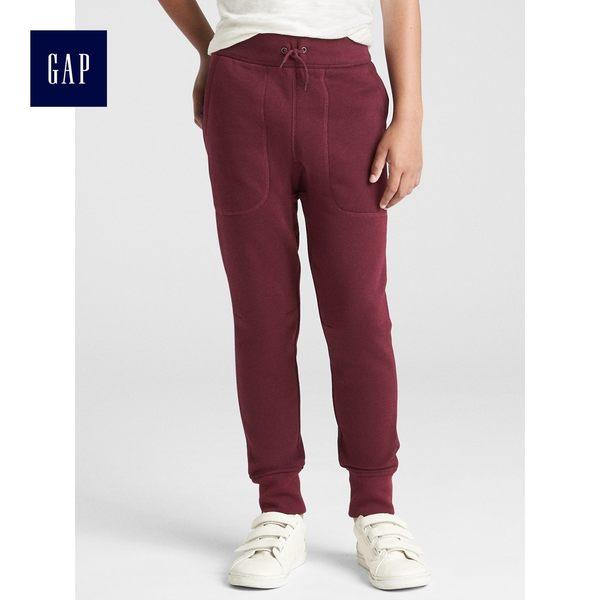 Gap男童 休閒鬆緊腰束口褲 363237-酒紅色
