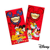 Disney迪士尼系列金飾-黃金元寶紅包袋-最佳拍檔+歡樂夢境款