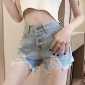 高腰牛仔超短褲女士春2021年夏季韓版褲子顯瘦修身破洞性感熱褲潮