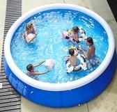 充氣泳池 圓形兒童游泳池戶外超大號加厚大型成人小孩家用戲水池 果果生活館