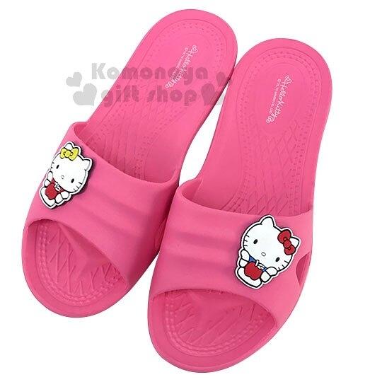 〔小禮堂〕Hello Kitty 極輕防滑塑膠拖鞋《桃.蘋果》室內拖鞋.浴室拖鞋 7021061-8000__