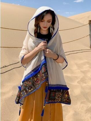 絲巾女夏季輕薄款大西北沙漠