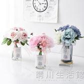 仿真花擺件小清新假花盆栽北歐家居客廳花束裝飾塑料花餐桌花擺設 晴川生活館