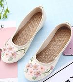 新款女鞋民族風繡花鞋高坡跟中國風漢服 LQ4479『黑色妹妹』