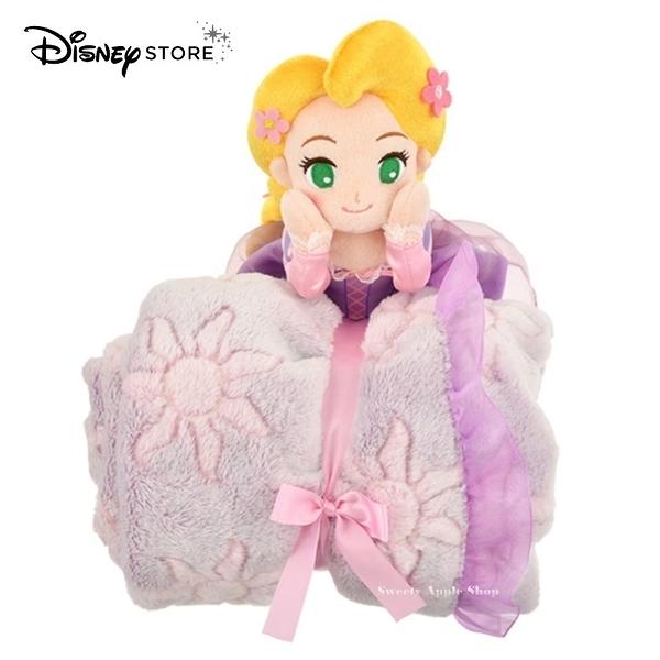 日本限定 迪士尼商店 Disney Store 迪士尼公主系列 長髮公主 樂佩 玩偶 折疊收納式 毛毯 / 蓋毯