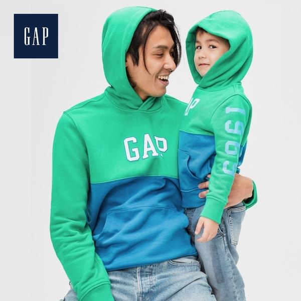 Gap男裝長袖套頭連帽衫休閒上衣528105-綠色