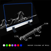 台式透明可懸掛LED手寫熒光板手寫板廣告板發光板【31X26】wy