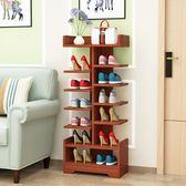 鞋架鞋架簡易家用客廳木鞋櫃經濟型組裝儲物多功能宿舍門口多層小鞋架xw 全館免運