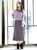 秋冬7折[H2O]可當上衣或外套軟綿綿仿貂毛毛衣 - 紫/粉/咖色 #9650012